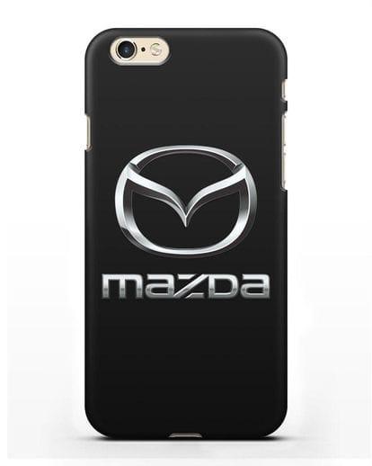 Чехол с логотипом Mazda силикон черный для iPhone 6s