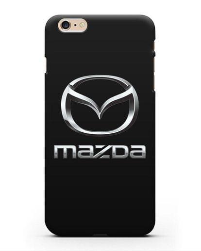 Чехол с логотипом Mazda силикон черный для iPhone 6s Plus