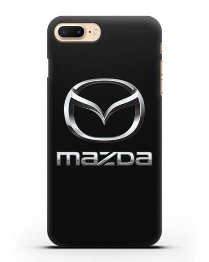Чехол с логотипом Mazda силикон черный для iPhone 8 Plus
