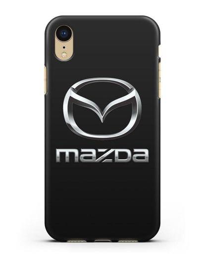 Чехол с логотипом Mazda силикон черный для iPhone XR
