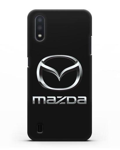 Чехол с логотипом Mazda силикон черный для Samsung Galaxy A01 [SM-A015F]