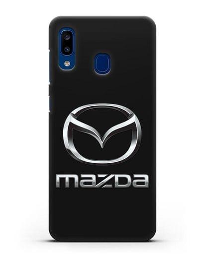 Чехол с логотипом Mazda силикон черный для Samsung Galaxy A20 [SM-A205FN]
