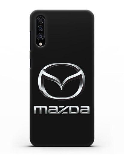 Чехол с логотипом Mazda силикон черный для Samsung Galaxy A30s [SM-A307FN]