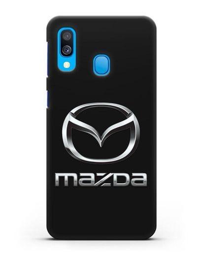 Чехол с логотипом Mazda силикон черный для Samsung Galaxy A40 [SM-A405F]