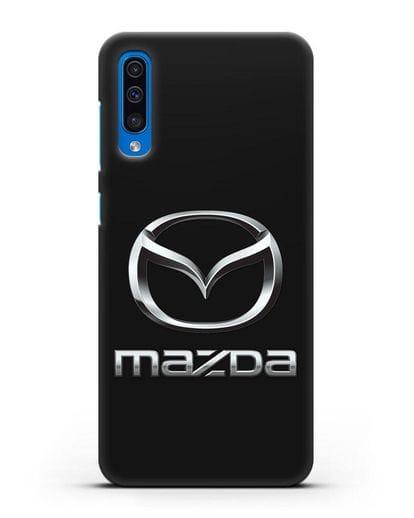 Чехол с логотипом Mazda силикон черный для Samsung Galaxy A50 [SM-A505F]