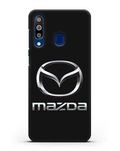 Чехол с логотипом Mazda силикон черный для Samsung Galaxy A60 [SM-A606F]