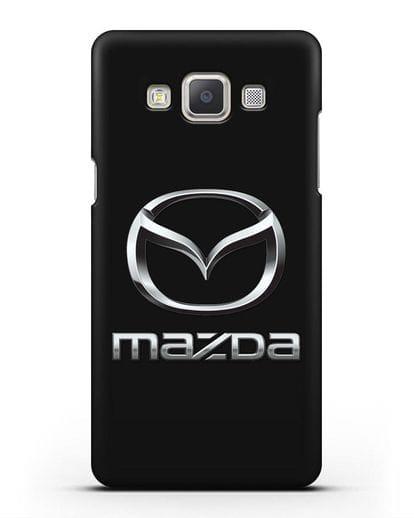 Чехол с логотипом Mazda силикон черный для Samsung Galaxy A7 2015 [SM-A700F]