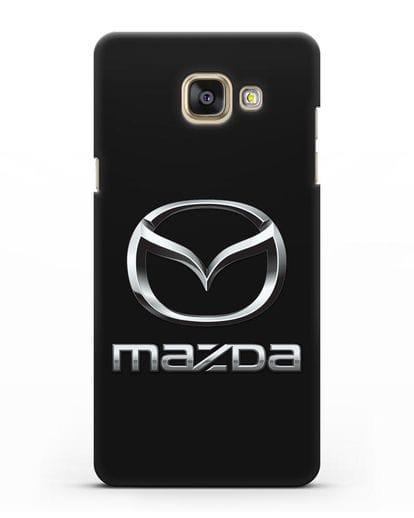 Чехол с логотипом Mazda силикон черный для Samsung Galaxy A7 2016 [SM-A710F]
