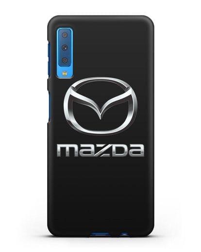Чехол с логотипом Mazda силикон черный для Samsung Galaxy A7 2018 [SM-A750F]