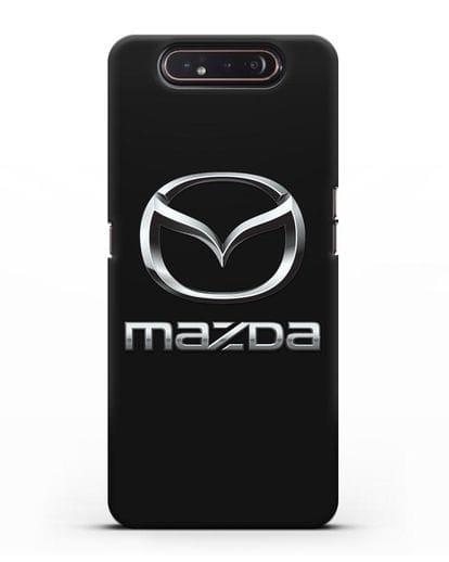Чехол с логотипом Mazda силикон черный для Samsung Galaxy A80 [SM-A805F]