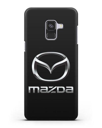 Чехол с логотипом Mazda силикон черный для Samsung Galaxy A8 Plus [SM-A730F]