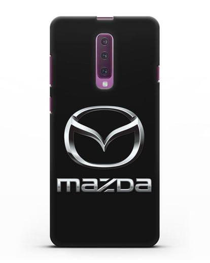 Чехол с логотипом Mazda силикон черный для Samsung Galaxy A90 [SM-A908N]