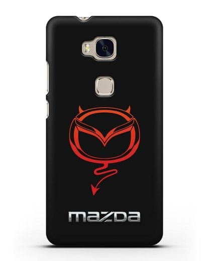 Чехол с логотипом Мазда Дьявол силикон черный для Honor 5X