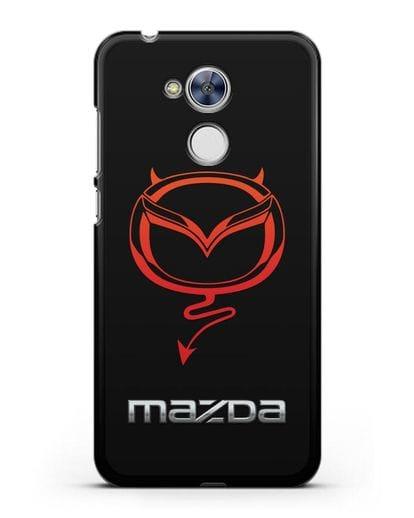 Чехол с логотипом Мазда Дьявол силикон черный для Honor 6A