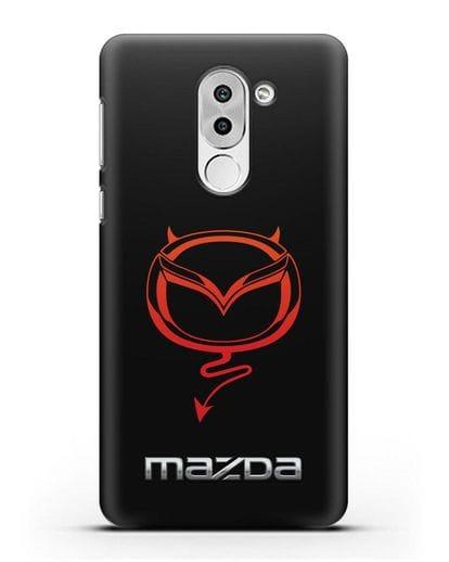 Чехол с логотипом Мазда Дьявол силикон черный для Honor 6X