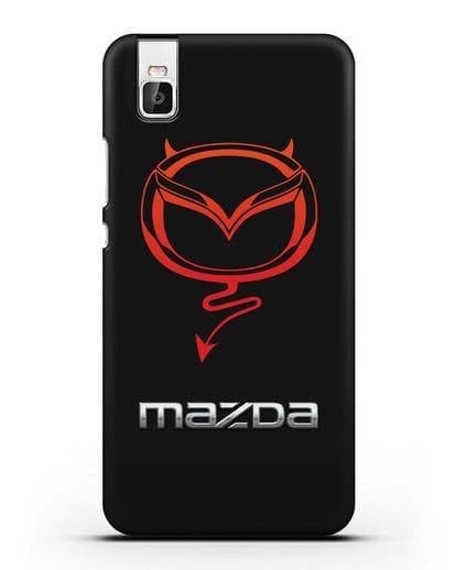 Чехол с логотипом Мазда Дьявол силикон черный для Honor 7i