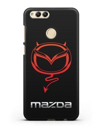 Чехол с логотипом Мазда Дьявол силикон черный для Honor 7X