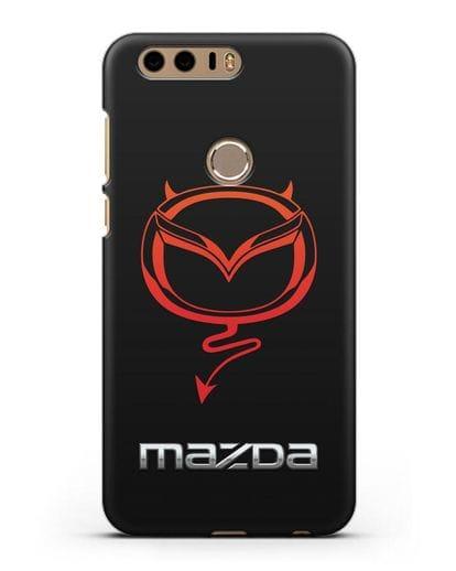 Чехол с логотипом Мазда Дьявол силикон черный для Honor 8