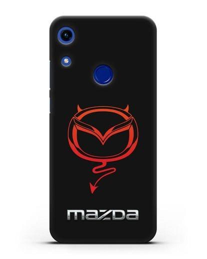 Чехол с логотипом Мазда Дьявол силикон черный для Honor 8A