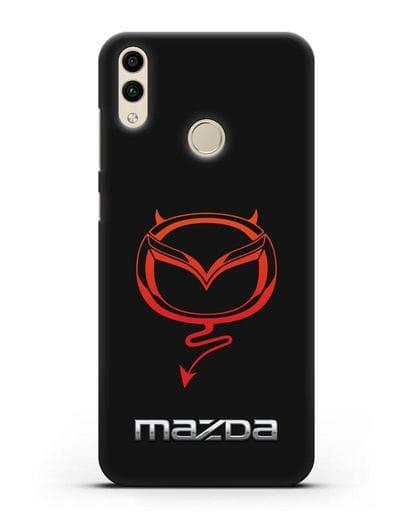 Чехол с логотипом Мазда Дьявол силикон черный для Honor 8C