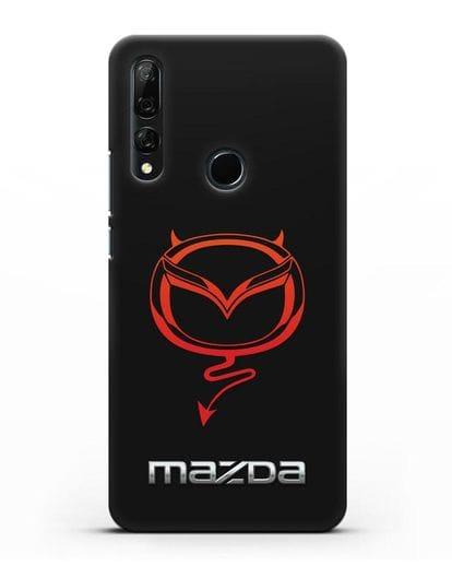 Чехол с логотипом Мазда Дьявол силикон черный для Honor 9X