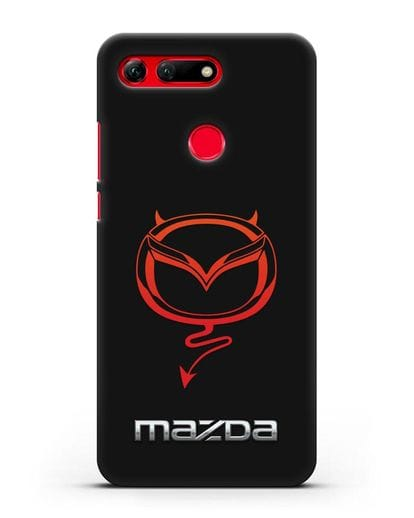 Чехол с логотипом Мазда Дьявол силикон черный для Honor View 20