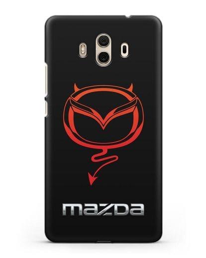Чехол с логотипом Мазда Дьявол силикон черный для Huawei Mate 10