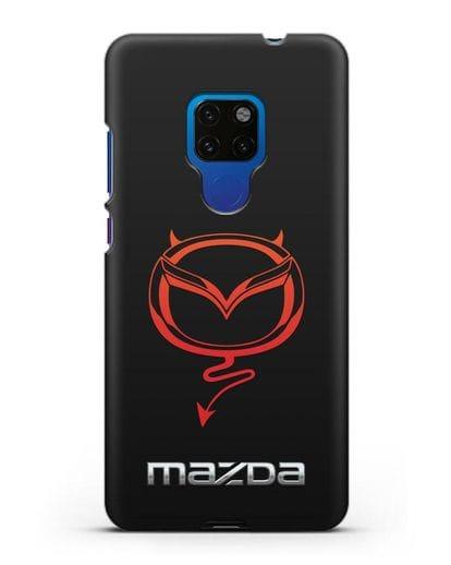 Чехол с логотипом Мазда Дьявол силикон черный для Huawei Mate 20