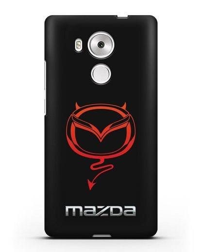 Чехол с логотипом Мазда Дьявол силикон черный для Huawei Mate 8