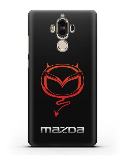 Чехол с логотипом Мазда Дьявол силикон черный для Huawei Mate 9