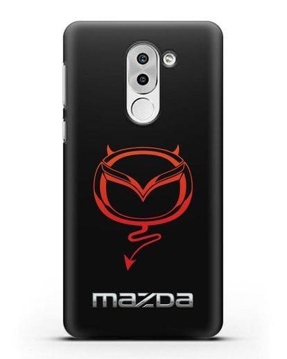 Чехол с логотипом Мазда Дьявол силикон черный для Huawei Mate 9 Lite