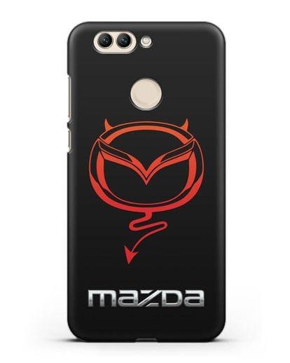 Чехол с логотипом Мазда Дьявол силикон черный для Huawei Nova 2 Plus