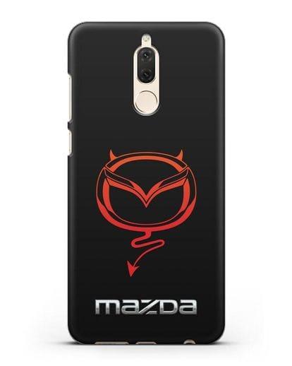 Чехол с логотипом Мазда Дьявол силикон черный для Huawei Nova 2