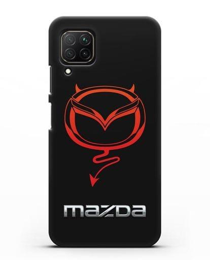 Чехол с логотипом Мазда Дьявол силикон черный для Huawei Nova 7i