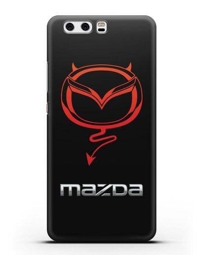 Чехол с логотипом Мазда Дьявол силикон черный для Huawei P10