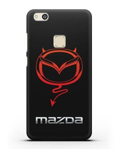 Чехол с логотипом Мазда Дьявол силикон черный для Huawei P10 Lite