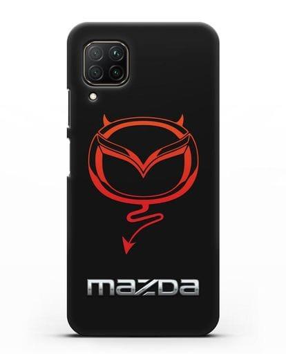 Чехол с логотипом Мазда Дьявол силикон черный для Huawei P40 lite