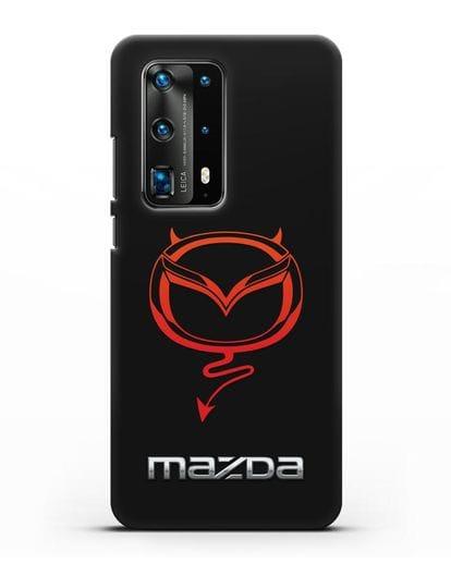 Чехол с логотипом Мазда Дьявол силикон черный для Huawei P40 Pro