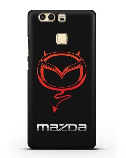 Чехол с логотипом Мазда Дьявол силикон черный для Huawei P9