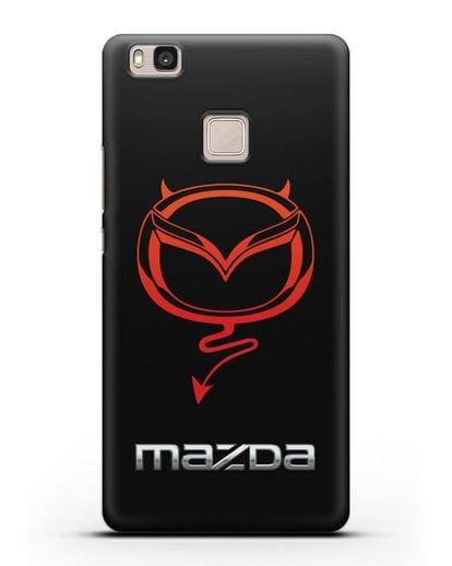 Чехол с логотипом Мазда Дьявол силикон черный для Huawei P9 Lite