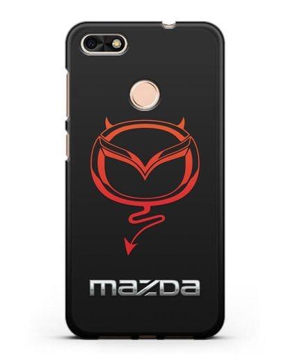 Чехол с логотипом Мазда Дьявол силикон черный для Huawei P9 Lite mini