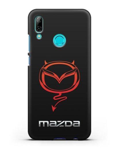 Чехол с логотипом Мазда Дьявол силикон черный для Huawei P Smart 2019