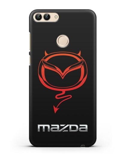 Чехол с логотипом Мазда Дьявол силикон черный для Huawei P Smart
