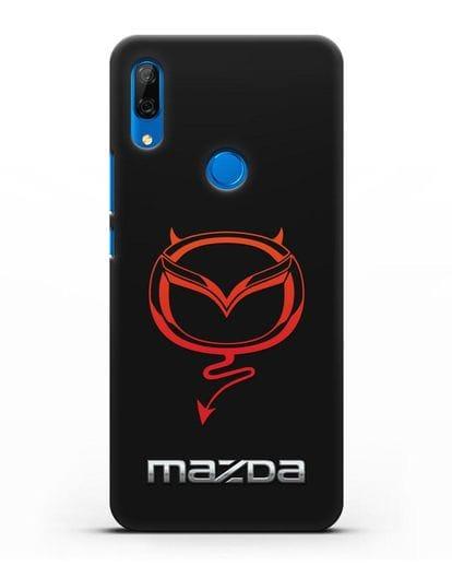 Чехол с логотипом Мазда Дьявол силикон черный для Huawei P Smart Z