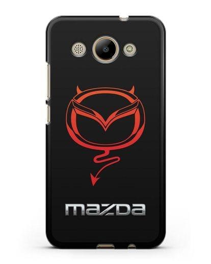 Чехол с логотипом Мазда Дьявол силикон черный для Huawei Y3 2017