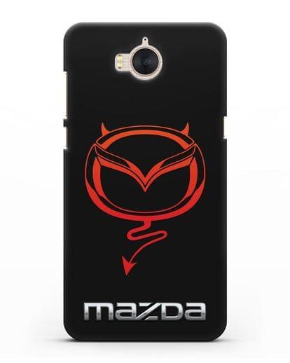 Чехол с логотипом Мазда Дьявол силикон черный для Huawei Y5 2017