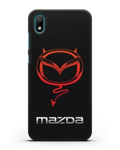 Чехол с логотипом Мазда Дьявол силикон черный для Huawei Y5 2019