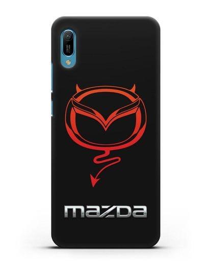 Чехол с логотипом Мазда Дьявол силикон черный для Huawei Y6 2019