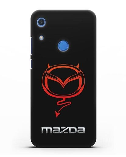 Чехол с логотипом Мазда Дьявол силикон черный для Huawei Y6s