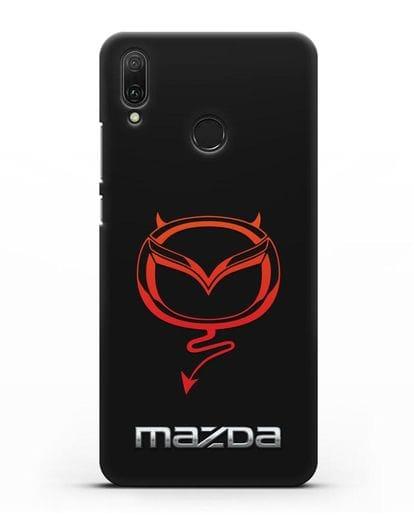 Чехол с логотипом Мазда Дьявол силикон черный для Huawei Y9 2019
